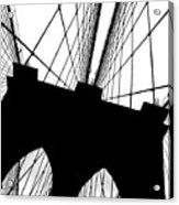 Brooklyn Bridge Architectural View Acrylic Print