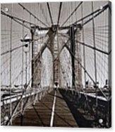 Brooklyn Bridge By Art Farrar Photographs, Ny 1930 Acrylic Print
