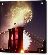 Brooklyn Bridge Celebration Acrylic Print