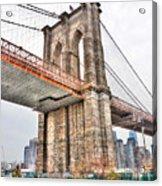 Brooklyn Bridge Close Up Acrylic Print