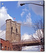 Brooklyn Bridge From Doughty Street Acrylic Print