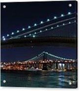 Brooklyn Bridge Full Moon Acrylic Print