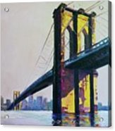 Brooklyn Bridge, N Y  Acrylic Print