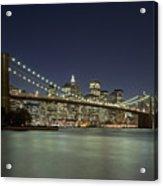 Brooklyn Bridge, New York City, Ny Acrylic Print by David Davis