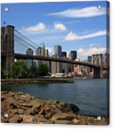 Brooklyn Bridge - New York City Skyline Acrylic Print