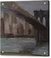 Brooklyn Bridge Painting Acrylic Print