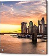 Brooklyn Bridge Panorama Acrylic Print