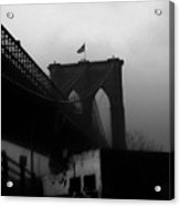 Brooklyn Bridge Through The Windshield Acrylic Print
