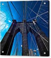Brooklyn Bridge Vertical Acrylic Print by Thomas Splietker