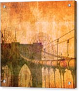 Brooklyn Bridge Vintage Acrylic Print