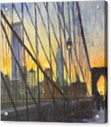 Brooklyn Bridge Wires Acrylic Print
