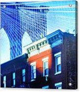 Brooklyn Bridge, New York City, December Acrylic Print