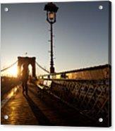 Brooklyn Brige Sunset Acrylic Print