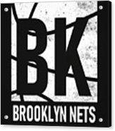 Brooklyn Nets City Poster Art Acrylic Print