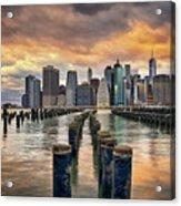Brooklyn Pilings   Acrylic Print