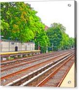 Brooklyn Subway Train Station 1 Acrylic Print