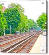 Brooklyn Subway Train Station 2 Acrylic Print