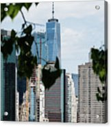 Brooklyn View Of One World Trade Center  Acrylic Print