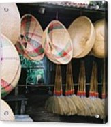 Brooms And Baskets Acrylic Print