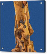 Brother 2, Carved Out Of A Dead Tree By Scott Alan Malinsky In Twin Lakes, Colorado  Acrylic Print