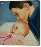 Brother And Sister Acrylic Print