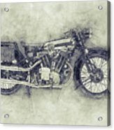 Brough Superior Ss100 - 1924 - Motorcycle Poster 1 - Automotive Art Acrylic Print