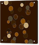 Brown Abstract Acrylic Print