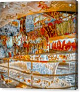 Brown And Red Grafitti In The Ramp Acrylic Print