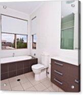 Brown And White Bathroom Acrylic Print