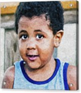 Brown Child - Paint Fx Acrylic Print