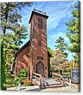 Brown Church Autumn 2 Acrylic Print