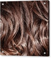 Brown Curly Hair Background Acrylic Print