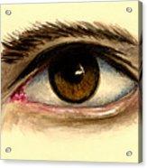 Brown Eye Acrylic Print