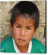 Brown Eyed Bolivian Boy Acrylic Print