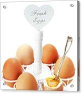 Brown Soft Boiled Eggs  Acrylic Print