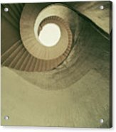 Brown Spiral Stairs Acrylic Print