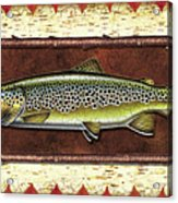 Brown Trout Lodge Acrylic Print by JQ Licensing