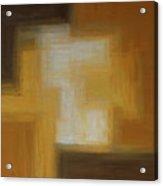Brown Yellow Abstract Acrylic Print