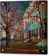 Brownstones At Lafayette Park Acrylic Print