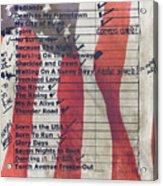 Bruce Springsteen Setlist At Rock In Rio Lisboa 2012 Acrylic Print