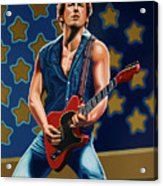 Bruce Springsteen The Boss Painting Acrylic Print