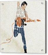 Bruce Springsteen Typography Art Acrylic Print