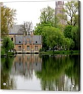 Bruges Minnewater 5 Acrylic Print