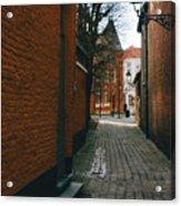 Bruges Orange Street Acrylic Print
