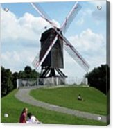 Bruges Windmill Acrylic Print