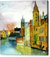 Brugge Belgium Canal Acrylic Print