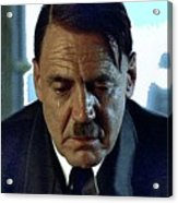 Bruno Ganz As Adolf Hitler Publicity Photo Number Two   Downfall 2004 Color Added 2016 Acrylic Print
