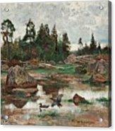 Bruno Liljefors,   Landscape From Uppland Acrylic Print