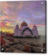 Brush Stroke Cloud Over Selat Mosque Acrylic Print