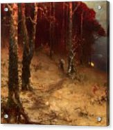 Brushwood Collector Bordering The Woods Acrylic Print